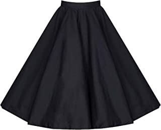 9567fede08cc0 Killreal Women s Vintage Knee Length Flare Floral A Line Pleated Skirt