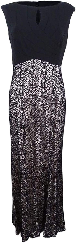 Alex Evenings Womens Sparkle Mermaid Evening Dress