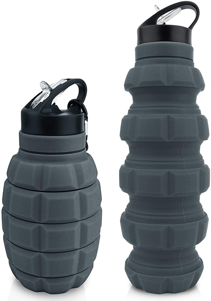 111 opinioni per Borraccia da Viaggio Pieghevole 20 oz, Borraccia Riutilizzabile Senza BPA In