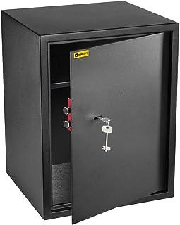 HomeSafe HV50K Caja fuerte con Cerradura de Calidad 50x35x35cm (HxWxD), Negro Satén de Carbón