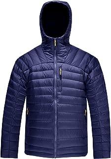Men's Packable Down Jacket Hooded Lightweight Winter Puffer Coat Outerwear
