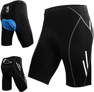 Shorts de Cyclisme pour Homme VTT Pantalon de Cyclisme Court Baggy Amples Imperm/éable Respirant pour Sports Shorts L/égers pour VTT Shorts pour Le v/élo en Plein Air Black-M