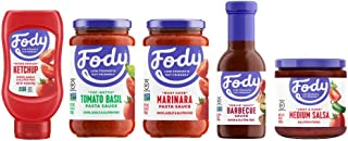 Fody Food Co, Sauce Pack, Sauces and Condiments, Low FODMAP and Gut Friendly, Gluten and Lactose Free, 5 Count