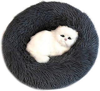 Cama para mascotas Sunnykud Deluxe, cama redonda de peluche para mascotas en forma de Doughnut, cama para perros, gatos, suave, cojín para perros, sofá para perros, parte inferior impermeable