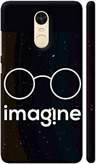 Colorpur Imagine Creative Thinking On Black Printed Back Case Cover for Redmi Note 4