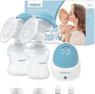 YISSVIC Sacaleches eléctrico con función de masaje y memoria, recargable, sin BPA, perfecto para la lactancia en el pecho,...
