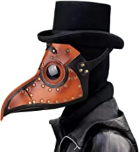Leshi Shop Plague Doctor Bird Head Mask con nariz larga Gothic Steampunk Leather Mask Cosplay Halloween Christmas Costume Props