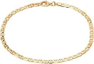 18K Gold Plated Flat Marina Link Anklet