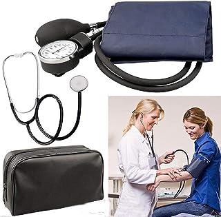 ZPPZ Manguito de presión Arterial Manual, Juego de Estetoscopio de presión Arterial, Manguito de esfigmomanómetro aneroide Monitor de presión Arterial Estetoscopio Esfera de Nylon