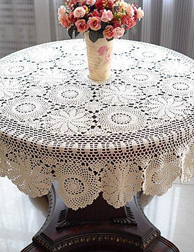 51 pulgadas Crochet Mantel Redondo