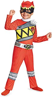 Disguise Red Ranger Dino Charge Toddler Classic Costume, Large (4-6)
