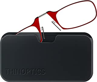 ThinOptics unisex-adult Universal Pod Case + Rectangular Reading Glasses