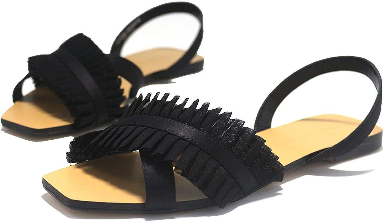 Flat Sandals Women's shoes Netting Flip Flop Flats Women shoes Ms. Sandals Slippers