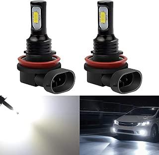 KATUR H11 LED Fog Light Bulbs Extremely Bright 2400 Lumens Max 75W High Power H8 H9 LED for Daytime Running Light DRL or Fog Lights, Xenon White (H11, H8, H9 White)