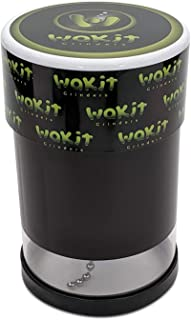 Wakit Grinders (KLR Series) - Electric Herb Grinder with See Through Herb Chamber Lit by LED Lights While Grinding when Ba...