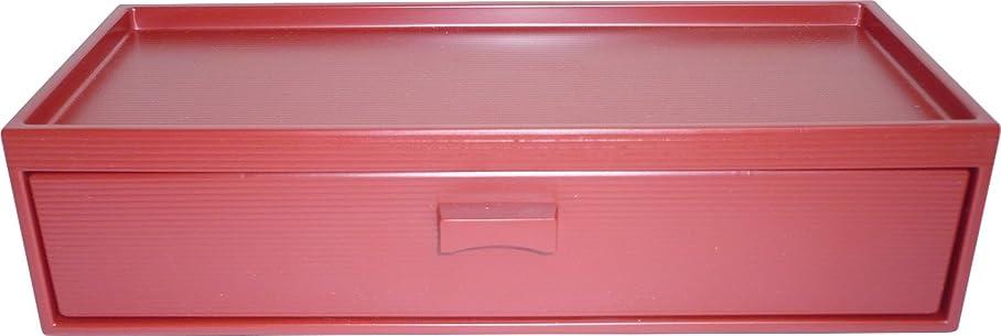 理想的には水分アシスタント箸箱 カスター付 赤 引出式 M10-976