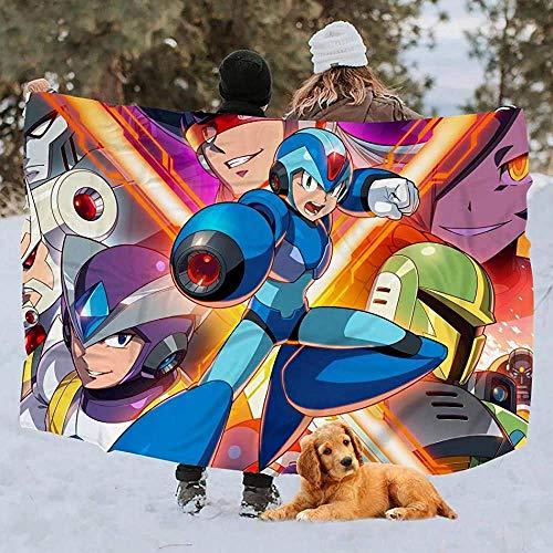 Yuanmeiju Throw Manta Mega Man X Legacy Collection 1 Bedding Printed Bedroom 3 Sizes Dorm Throw Manta Warm Cozy Living Room Fleece Manta Sofa 127cmX153cm