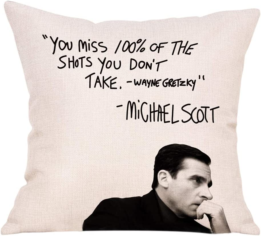 FBCOO The Office TV Max 90% OFF Show Decorative Wayne Cover Manufacturer regenerated product Throw Gr Pillow