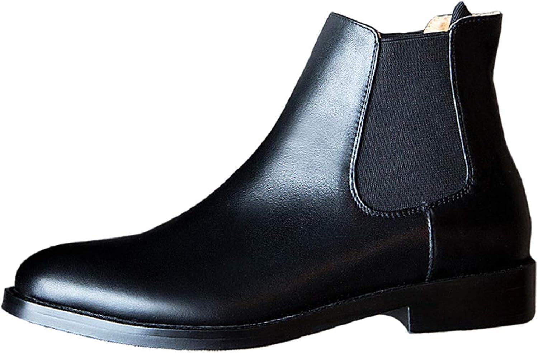 Classic kvinnor Chelsea stövlar läder läder läder Slip on Flat Ankle kort Booslipss skor skor  spara upp till 70% rabatt