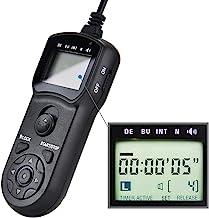 JJC Intervalometer Timer Remote Control Shutter Release for Sony A6000 A6100 A5100 A6600 A6500 A6400 A6300 A7 A7II A7III A7R II III A7RIV A7S A7SII A9 ZV-1 RX100 VII VI V VA IV III RX10 IV III & More