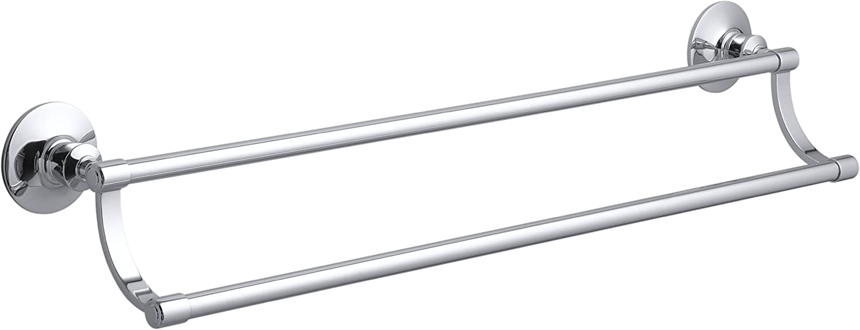 Kohler K-11053-CP Archer Double Towel Bar, Polished Chrome
