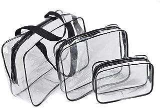 حقيبة شفافة للمكياج ومستحضراته مقاومة للماء وقابلة للغسل