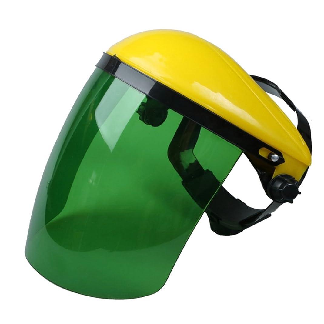 老人虐殺学校教育全5色 溶接マスク 保護メガネ ヘルメット フルフェイスシールド 高温耐性 PC材質 耐衝撃 - 緑色