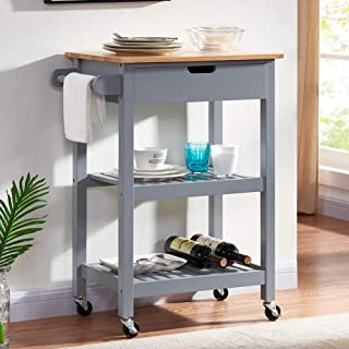 large rolling kitchen cart