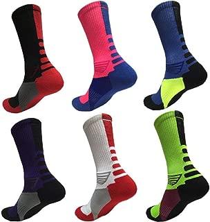 KUGIN Calcetines de compresión, cálidos y cómodos, (6 Pares) Calcetines de compresión para Mujeres y Hombres – Mejor Correr, Deportes competitivos, Crossfit, Viajes de Vuelo