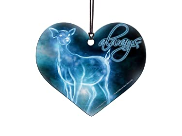 Harry Potter – Always Patronus – Heart Shaped Hanging Acrylic Print – Perfect for Gifting or Collecting