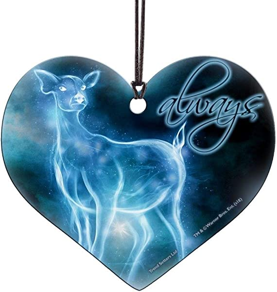 Trend Setters Harry Potter Always Patronus Heart Shaped Hanging Acrylic