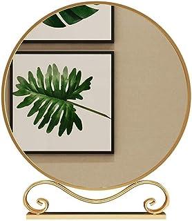 European Style Round Dressing Table Mirror Study Bedroom Metal Makeup Mirror Hotel Apartment Creative