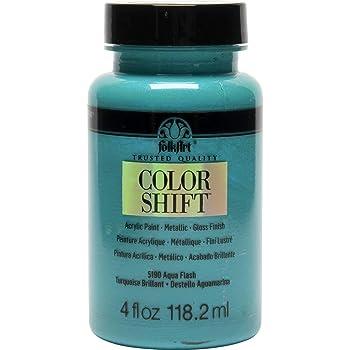FolkArt Color Shift Acrylic Paint in Assorted Colors (4 oz), Aqua Flash