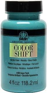 FolkArt Color Shift Acrylic Paint in Assorted Colors (4 oz), 5190 Aqua Flash