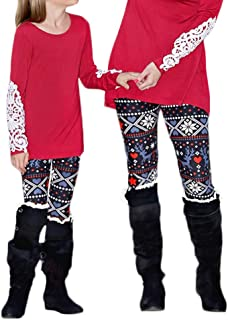 mother daughter matching christmas leggings