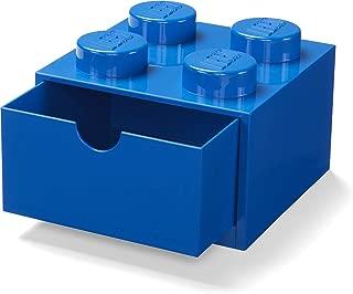 LEGO 40201731 Desk Drawer 4 knobs Stackable Storage Box, Blue