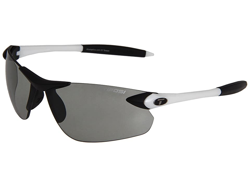 Tifosi Optics Seektm Fototectm FC Smoke (White/Black/ Smoke Fototec Lens) Athletic Performance Sport Sunglasses
