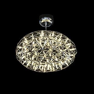 Venta caliente de acero inoxidable LED Lámparas colgantes Lámparas Fuegos artificiales Forma de bola plana Sala de estar Loft Luces Tiendas Lights110-240V-58CM_Warm White