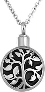 CharmSStory Family Tree of Life Urn Necklace Cremation Keepsake Memorial Ashes Pendant Necklaces