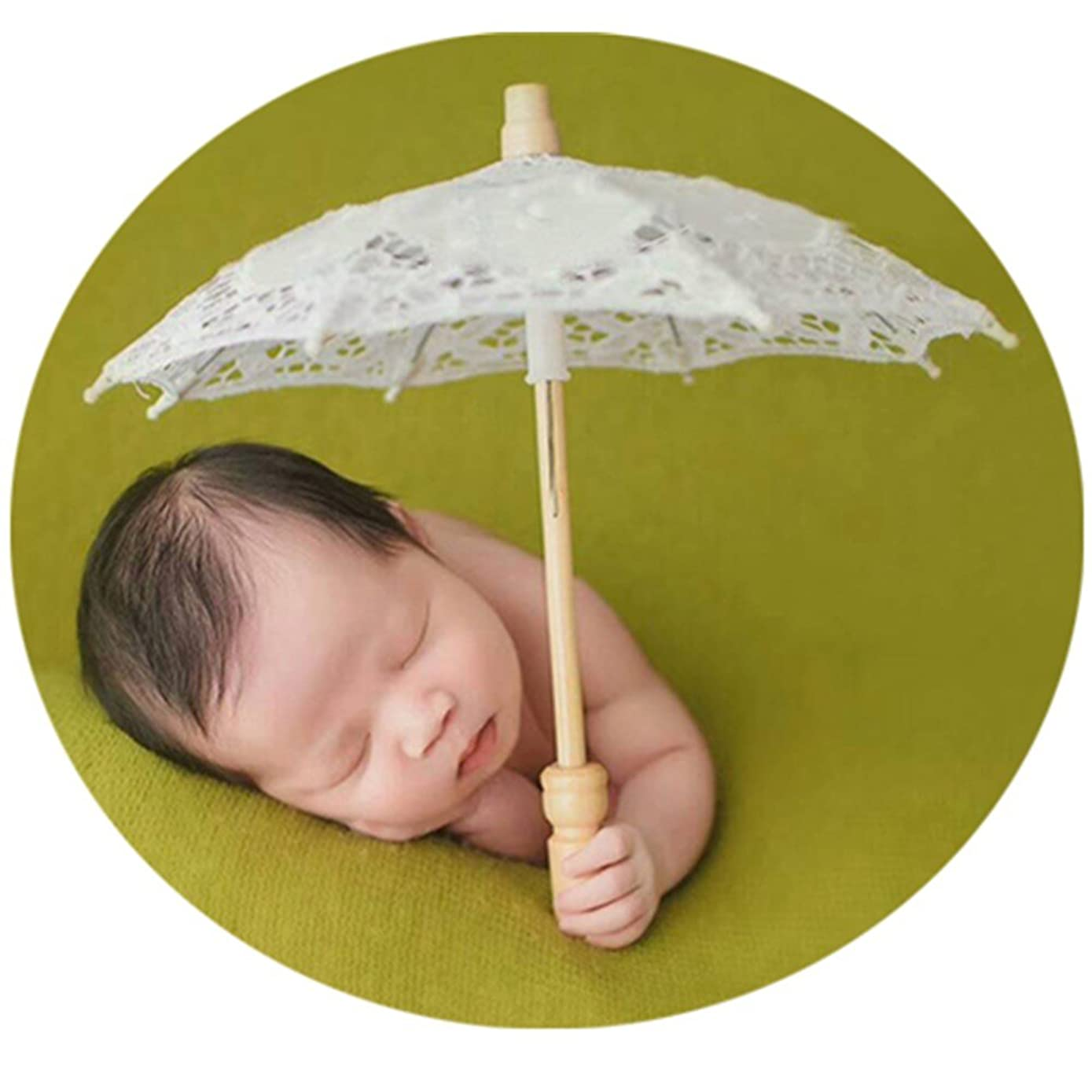 Baby Photography Props Boy Girl Photo Shoot Outfits Newborn Photos Lace Umbrella Baby Size