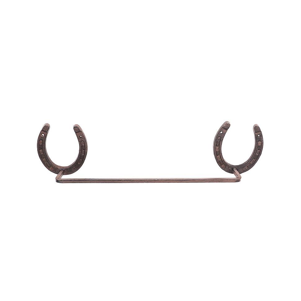 社交的ヘッドレスキャラクターWestern Horseshoe Cast Iron Towel Rack