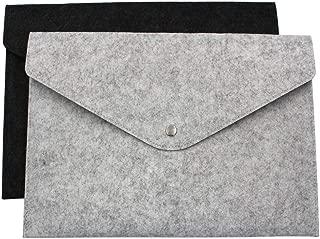 File folders - 2X A4 File Folders Felt Folder Expanding Document Folder Portable Felt Holder Documents Folders Briefcase Bag