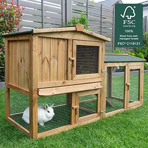 Zooprimus zooprinz Kaninchenstall -Meister Lampe- Outdoor Kleintierkäfig für Hasen, Zwergkaninchen, Meerschweinchen, Frettchen