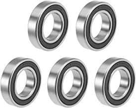 uxcell 6904-2RS Deep Groove Ball Bearings Z2 20mm x 37mm x 9mm Double Sealed Carbon Steel 5pcs