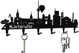 steelprint.de Schlüsselbrett/Hakenleiste * Skyline Karlsruh