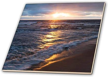 3dRose Danita Delimont - 海景 - 美国,加利福尼亚,拉乔拉。 海滩日落 - 瓷砖 (ct_314636) 白色 6-Inch-Ceramic ct_314636_2