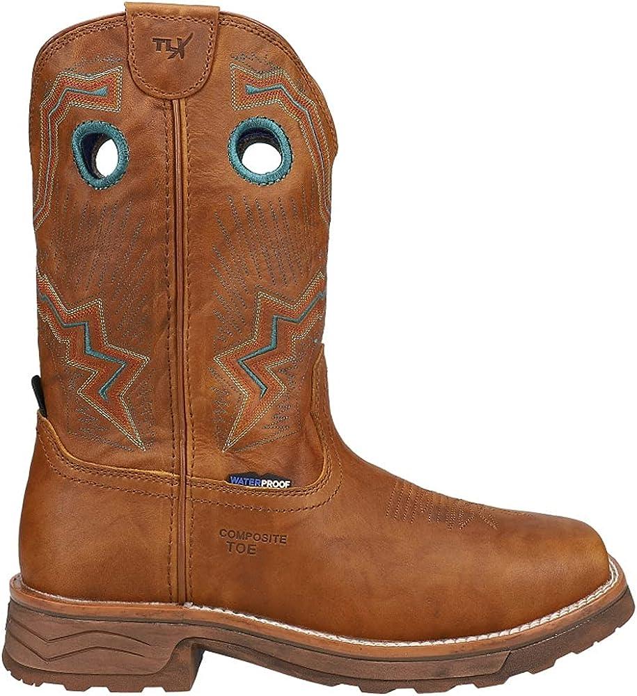 Tony Lama Women's Lumen Waterproof Western Work Boot Composite Toe - Tw3420