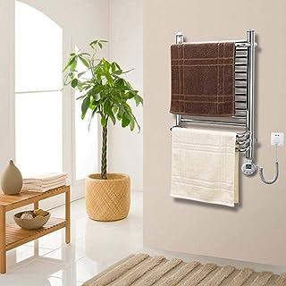 HYY-YY. Elektryczny podgrzewacz na ręczniki, z termostatem po prawej stronie ściany, mocowany na stałe okablowany ze stali...