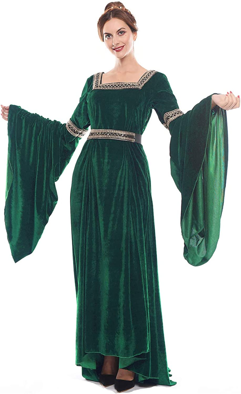 Our shop most popular NSPSTT Medieval Dress Purchase Women Queen Renaissance Irish Costume Over