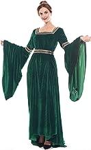 Womens Medieval Victorian Costume Dress Renaissance Asymmetric Fancy Dresses